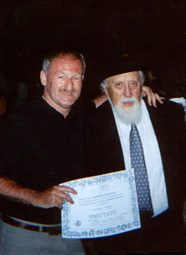 Billy O'Neill with Professor Feuerstein